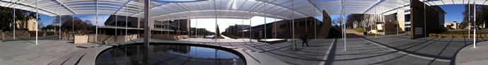 Panoramic image of the UT Dallas campus